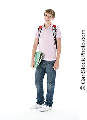 retrato, adolescente, colegial