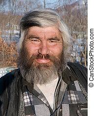 retrato, barba, 20, homem