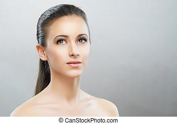 retrato, beleza