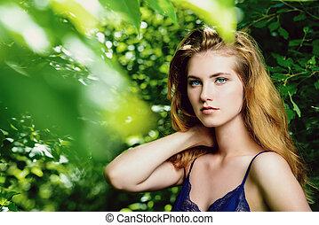 retrato, beleza feminina