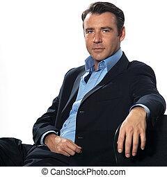 retrato, bonito, homem, homem negócios