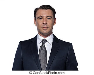 retrato, bonito, homem negócio