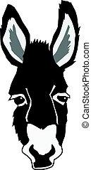 retrato, burro