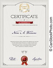retrato, certificado, realização