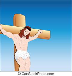 retrato, christ, jesus