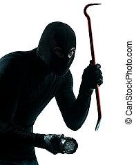 retrato, criminal, assaltante, ladrão, mascarado