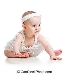 retrato, de, adorável, bebê