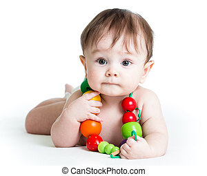 retrato, de, cute, menino bebê