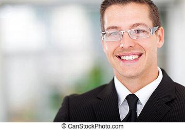 retrato, de, hombre de negocios