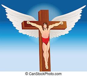 retrato, de, jesucristo