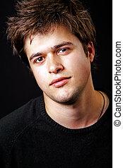 retrato, de, masculino, bonito, homem jovem