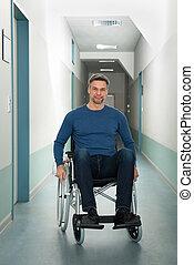 retrato, de, um, homem incapacitado