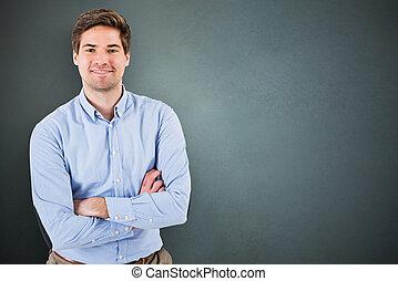 retrato, de, um, homem jovem