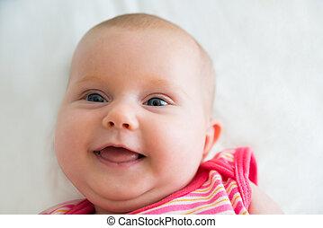 retrato, de, um, inocente, bebê