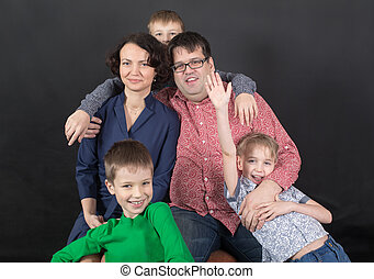 retrato, de, un, familia