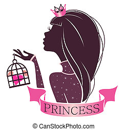 retrato, de, un, princesa, con, jaula