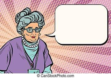 anciana hermoso