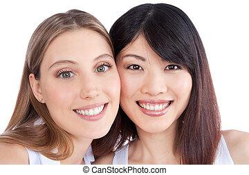 retrato, dos mujeres