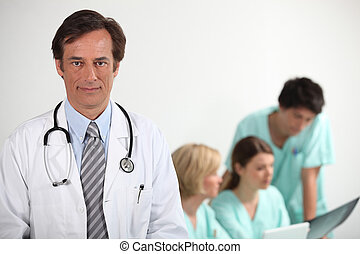 retrato, doutor
