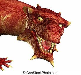 retrato, dragón
