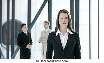 retrato, empresa / negocio, equipo