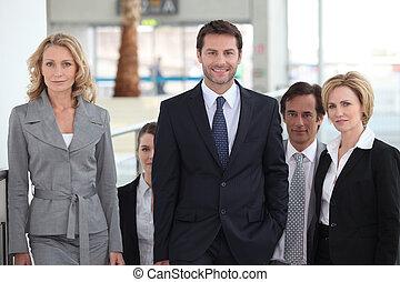 retrato, equipe negócio