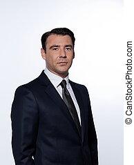 retrato, guapo, hombre de negocios
