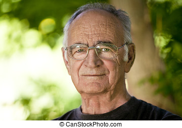 retrato, hombre anciano