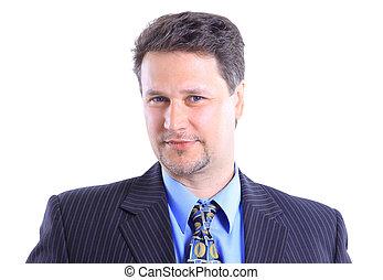 retrato, hombre de negocios