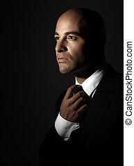 retrato, homem, elegante