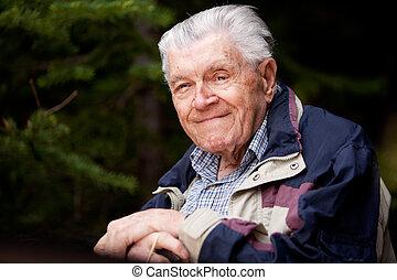 retrato, homem idoso