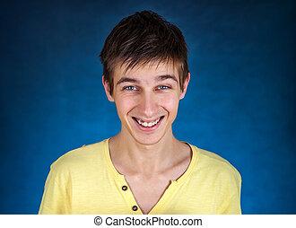 retrato, homem jovem