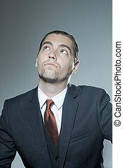 retrato, homem, negócio