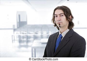 retrato, homem negócio