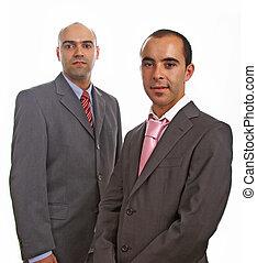retrato, homens, jovem, negócio