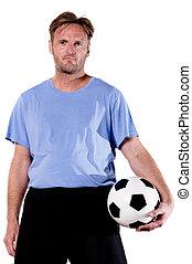 retrato, jugador del fútbol