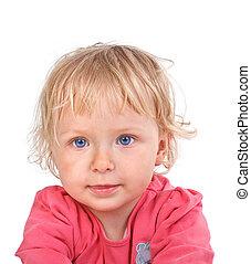 retrato, menina, pequeno