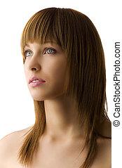 retrato, modelo