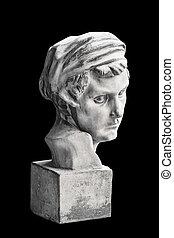 retrato, mujer, escultural