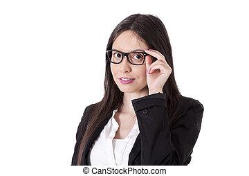 retrato, mujer, retrato de medio cuerpo, empresa / negocio