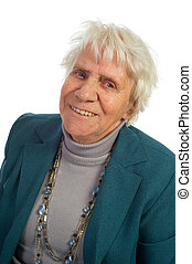 retrato, mulher velha