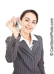 retrato, negócio mulher