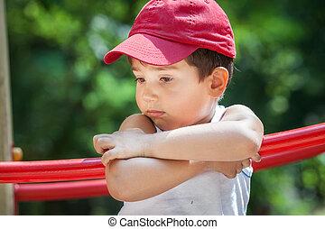 retrato, niño, 3-4 años