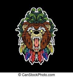 retrato, oso