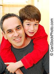 retrato, padre, hijo