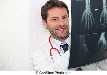 retrato, radiografia, doutor