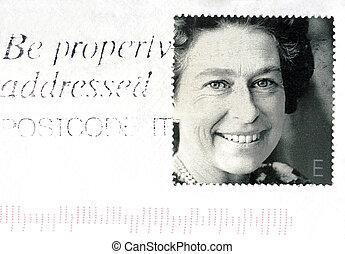 retrato, reina, s, ii, elizabeth