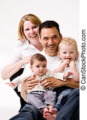 retrato, segundo, família