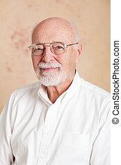 retrato, -, serio, hombre mayor