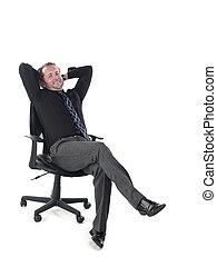 retrato, silla, relajante, doctor